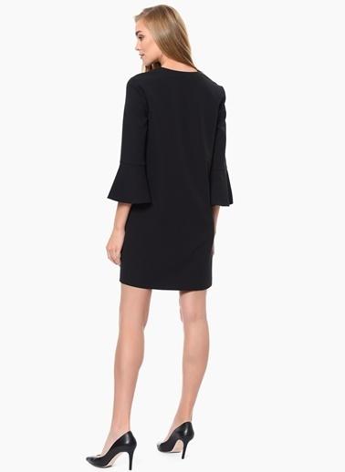 NetWork İspanyol Kol Kısa Elbise Siyah